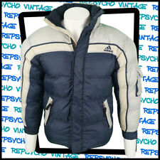Vintage 90s ADIDAS Navy/Grey Puffer Jacket Size 16 years/ Womens 6-8