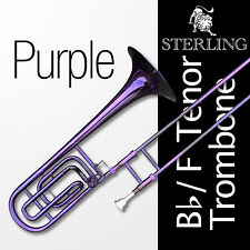 PURPLE Bb/F Tenor STERLING Trombone • High Quality • With F Trigger •