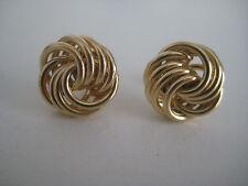 Gold Knoten Ohrringe 9 Karat Gelbgold 14mm alle glänzend