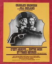 Charles Bronson & Jil Ireland - C'est Arrivé .. Entre Midi et Trois Heures  !