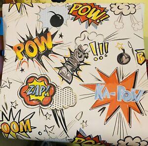 Retro Superhero Wallpaper Pow Bang Zap 1 x Complete Roll