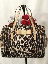 Kate Spade New York VERANDA PLACE Leopard Nylon Cleary Satchel Handbag #PXRU5043