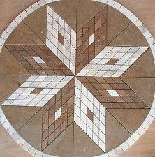 "32"" Marble Travertine Tile Medallion mosaic  Stone Flloring or wall design  #51f"