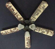 Lodge ceiling fans ebay new bear moose deer rustic cabin lodge ceiling fan 52 aloadofball Image collections