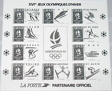 FRANCE FRANKREICH 1992 Block 12 SD Winter Olympics Albertville Skiing MNH R !