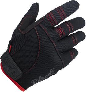 BILTWELL Moto Gloves Sm Black/Red . Small GL-SML-BK-RD 3301-2654 1501-0108-002