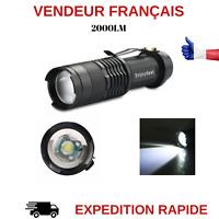 MINI LAMPE DE POCHE LAMPE TORCHE LED Q5 LED AVEC ZOOM 2000 LUMENS