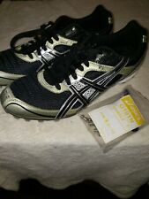 Asics G101N  hyper md 4 Size 8.5 track shoes with spikes and tool blk/slvr/gold