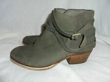 HUDSON WOMEN CEMENT LEATHER PULL ON BUCKLE BOOT SIZE UK 7  EU 40 VGC