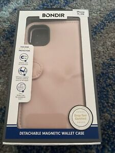 NEW Bondir Pink Case iPhone 11 / XR (2 in 1) Magnetic Detachable Leather Wallet