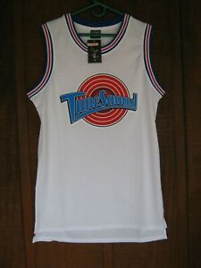 Men New Joli Sport White Medium Tune Squad Bugs 1 Men Shirt 100% Polyester