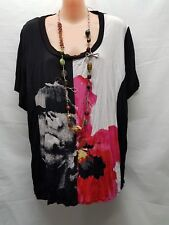 T S SIZE S BLACK COLOURED ABSTRAT SMART CASUAL TOP