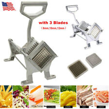 Potato French Fry Fruit Vegetable Cutter Slicer Cutting Tool Aluminum + 3 Blades