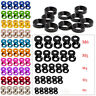 Aluminum Alloy M2 M3 M4 M5 M6 Anodized Countersunk Head Bolt Washers Gasket LOT