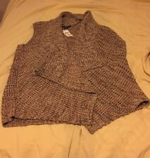 KAREN SCOTT KNIT CHESTNUT MRL CASUAL SWEATER VEST 1X NEW.   158