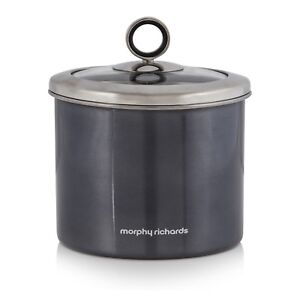 Accents 1.4l Small Black Kitchen Canister Tea Sugar Coffee Biscuits Food Storage