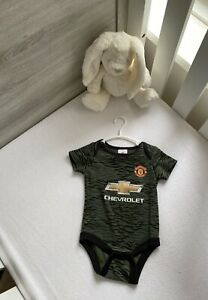 Man United Baby One Piece Away Kit Boy / Girl Official Merchandise 6-9 Months