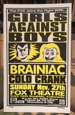 GIRLS AGAINST BOYS & BRANIAC – 11/27/94 - Rare CRYPTOGRAPHICS  Poster  #21 / 50