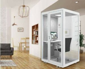 Mobile Soundproof Booth- Workstation  - Acoustic Cabin - MEDIUM OFFICE