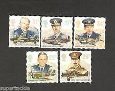 1986 Great Britain Scott #1157-1161  set of 5 Royal Air Force Commanders