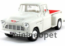 MOTORMAX 73236 1955 55 CHEVY 5100 STEPSIDE PICK UP TRUCK 1/24 DIECAST WHITE