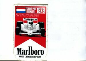 Dutch GP 1979 Zandvoort Marlboro original sticker autocollant adhesivo unused