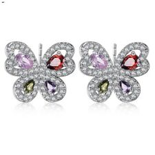 Marti Colorful Dainty Butterfly Earrings $64 E1 Made With Swarovski Crystals The