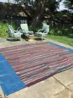 Vintage Handwoven Rag Rug 9' x9'~ Ohio Amish Country~Rastetter Mill 1840~2002