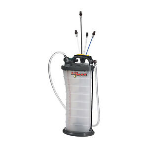 Lumax LX-1314 2.6 Gallon Manual/Pneumatic 2-in-1 Fluid Extractor for Engine Oil