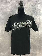 murina men black graphic vtg tee shirt size m made in USA