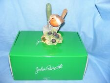 John Beswick Bird Robin On Trowel Collectable Ornament Present Birthday JBB19