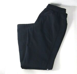 Under Armour Mens Pants M Black Fleece Lined Sweatpants Loose ColdGear Athletic