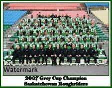 CFL 2007 Saskatchewan Roughriders  Grey Cup Champs Color 8 X 10 Photo Free Ship