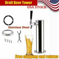 Chrome Single Stainless Steel Draft Beer Tower Tap Single Faucet Beer Dispenser
