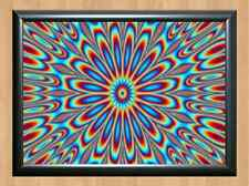 Psychedelic Trippy Funky Mushrooms Audio Video Visulization A4 Photo Print 10