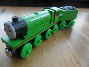 Thomas Tank Engine & Friends Wooden Train HENRY - LEARNING CURVE ETC POST DISCS
