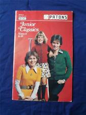 PATONS BEEHIVE PATTERN KNIT CRAFT INSTRUCTION BOOK NO. 407 JUNIOR CLASSICS