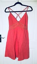 Miso Coral Strappy Beach Dress / Size 12 / New