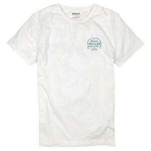 NEW Men's Timberland Short Sleeve Summer T-Shirt- OFF WHITE $32