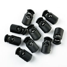 10 X Black Ball Cord Locks Toggles Round Cordlocks