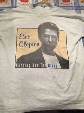 Rare Eric Clapton 1995 Blues concert tour T shirt Xl Grey