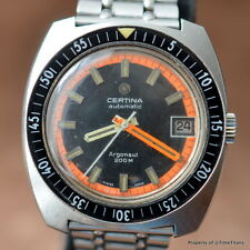 CERTINA ARGONAUT 200M Ref. 5801-223 Cal 25-651 AUTOMATIC ORANGE CHAPTER ACRYLIC