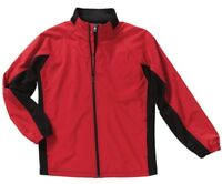 NEW CHARLES RIVER APPAREL Size L Large Full Zip Red Black Synthesis Jacket NWT