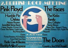 BRITISH ROCK MEETING - 1972 - Konzertplakat - Pink Floyd - Doors - Faces - Poste