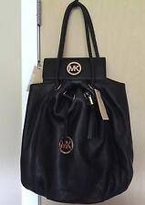 MICHAEL KORS Black Leather Ring Tote/handbag & Black wallet Set $487.00