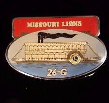 Vintage Lions Club Pins - Pin Trader  Missouri Mississippi Steam Boat River Boat