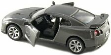 "Brand New 5"" Kinsmart 2009 Nissan GT-R R35 Diecast Model Toy Car 1:36 Grey"