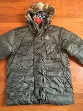 New Jordan Ring Championship Down coat jacket. Fur hood. RARE! 243804-061 xl