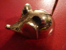 Collectible Lovely Mouse Brass Paperweight Receipt Holder - Wow !