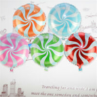 10Pcs Lollipop Balloons Birthday Party Decoration Foil Round Candy 18''_FR